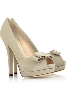A pair of nude pumps,