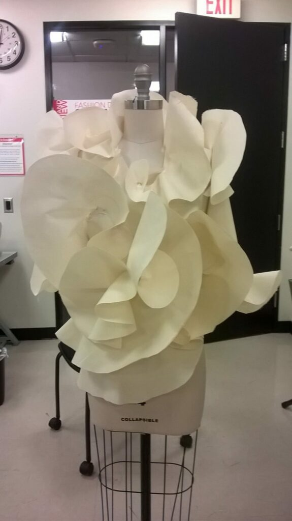 An interpretation of the classic white shirt by an Art Institute of Phoenix student.