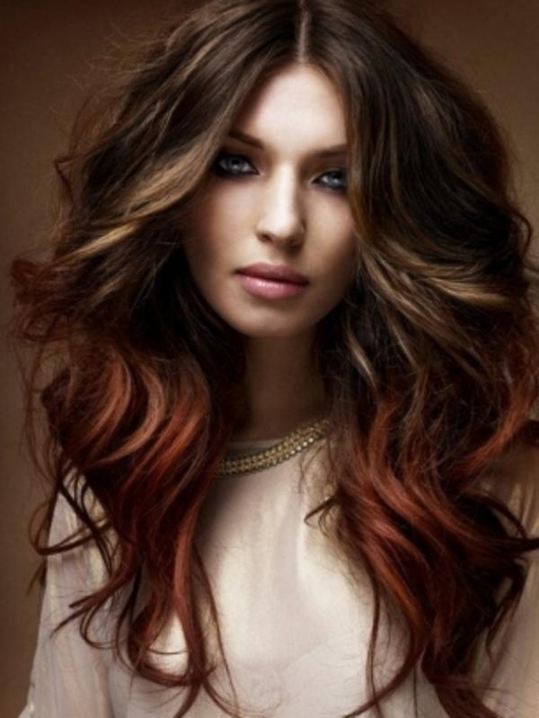Dark Red And Brown Ombre Hair Images & Pictures - Becuo