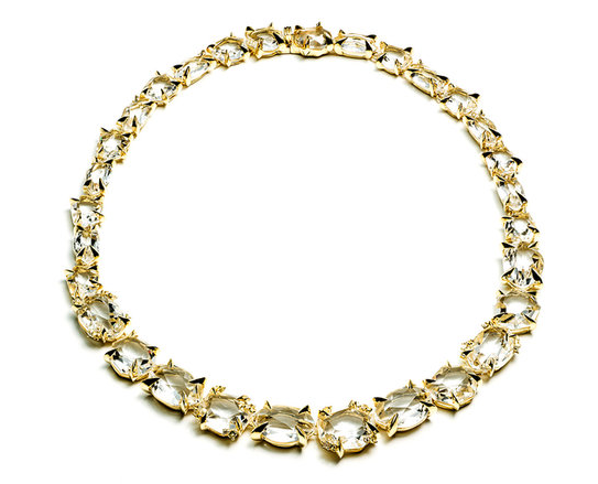 Golden Ice Marquis Strand Necklace, $13,995