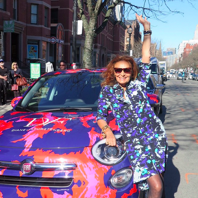 A Spring afternoon in Boston! @fiatusa Love Diane