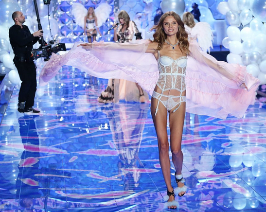 Martha Hunt at the 2014 Victoria's Secret Fashion Show
