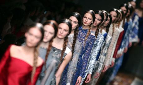 Valentino's Paris fashion week catwalk