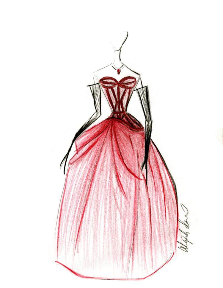 A sketch by The Art Institute of Phoenix fashion student Alejandra Insunsa
