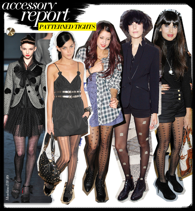 trend patterned tights