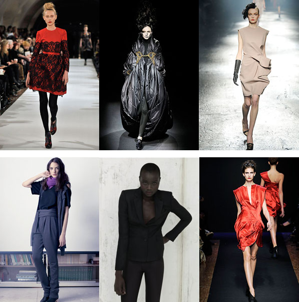 Clockwise: Erdem, Junya Wantanabe, Lanvin, The Row, Stella McCartney Organic, Costume Nationa