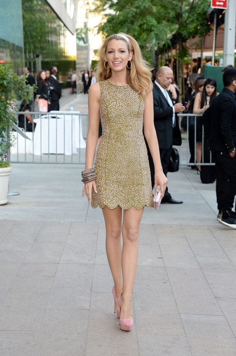 Blake Lively looks like a Barbie doll in Michael Kors