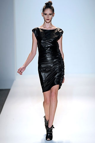 Cynthia Steffe leather dress