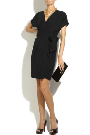 DVF Kimoni Crepe Wrap Dress