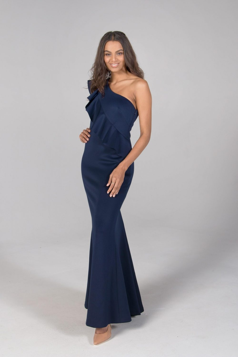 fbc290d166d6 The one shoulder trend is sophisticated and oh-so-stylish. This season show  off your shoulders with shape accentuating silhouettes. The style from  Jessica ...