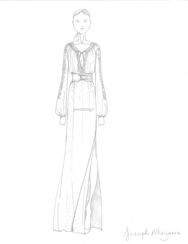 A sketch from the Altuzarra for Target collection