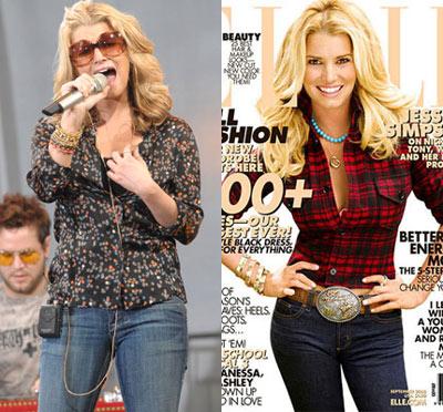 Jessica Simpson Elle Magazine
