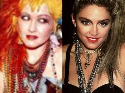 Madonna and Cindy Lauper