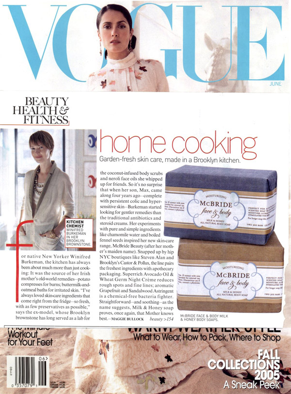 Vouge feature on McBride Beauty
