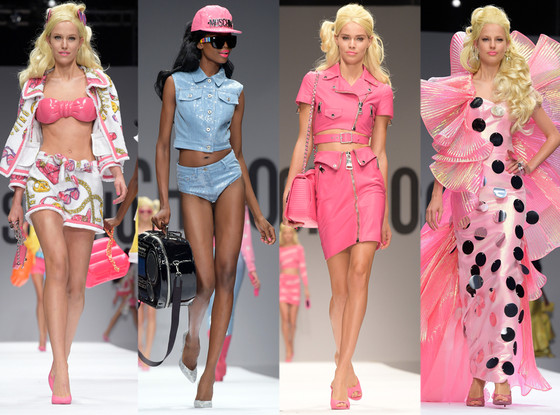 Barbie Came to Life on the Moschino Spring Runway