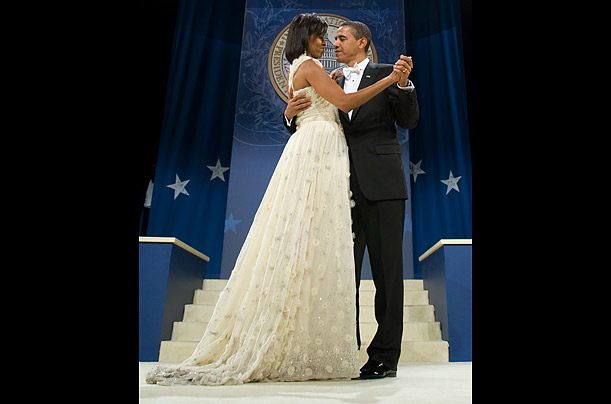 President and First Lady dancing at the Inaugural Ball
