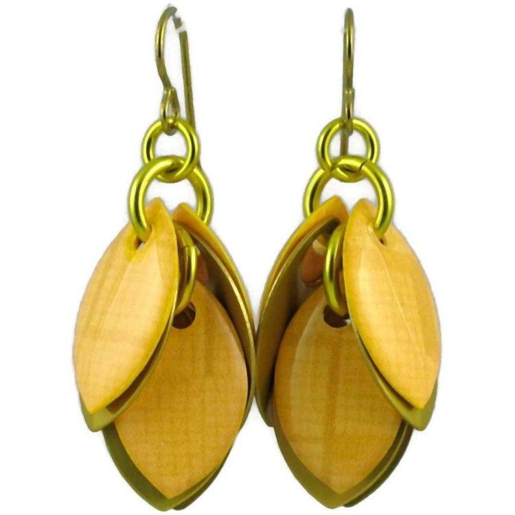 Diana Ferguson Jewelry Primrose Yellow Petal Earrings
