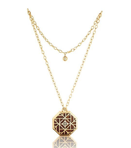 Tory Burch solid perfume pendant necklace