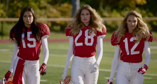 The Victoria's Secret Angels Touchdown in New Super Bowl Ad