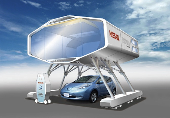 Nissan Designs Post-Quake Home For Smart Living