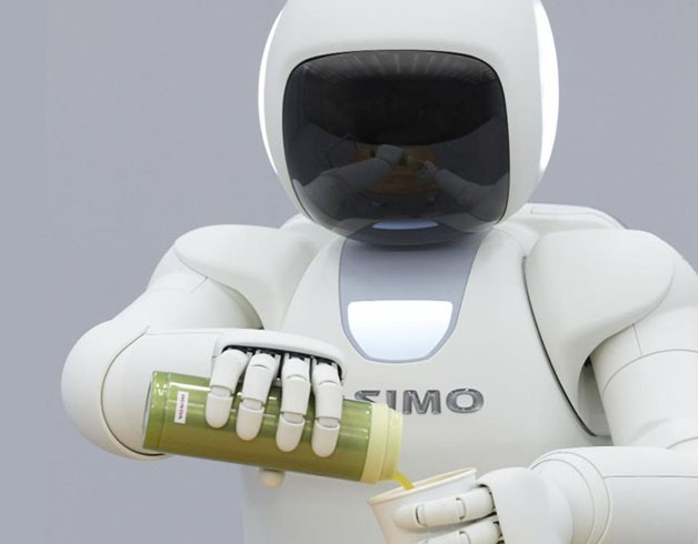 Honda Robot Ushers Into the Future, then Pours Drinks