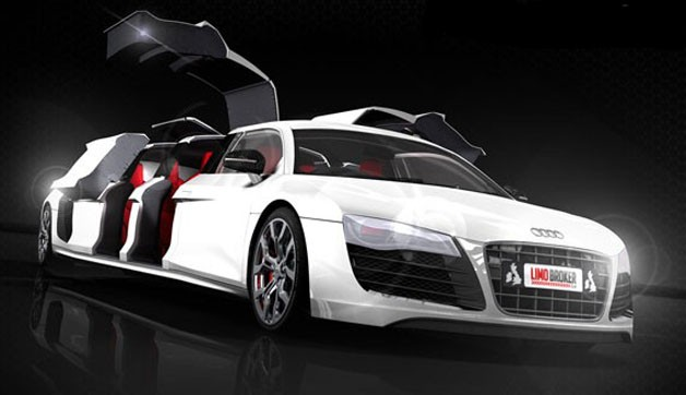 Audi R8 Stretched Beyond Recognition