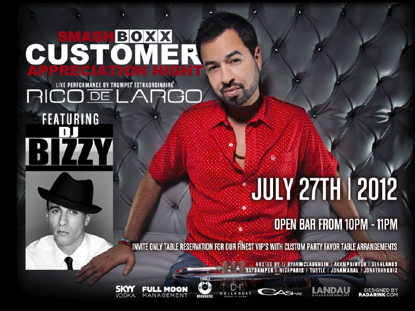 Smashboxx Customer Appreciation Night Featuring DJ Bizzy & Rico DeLargo