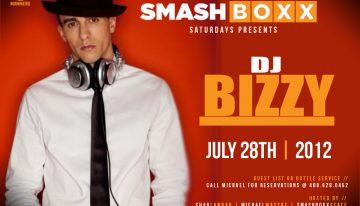 Smashboxx Saturdays Presents DJ Bizzy