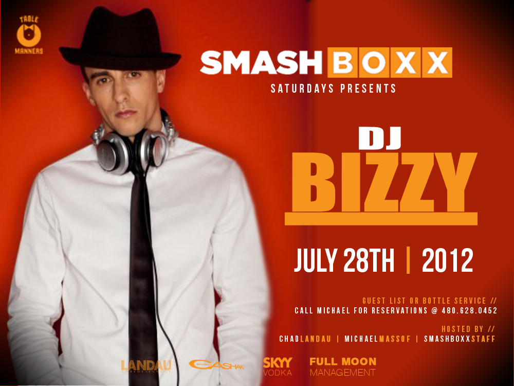 Smashboxx Saturdays Presents DJ Bizzy