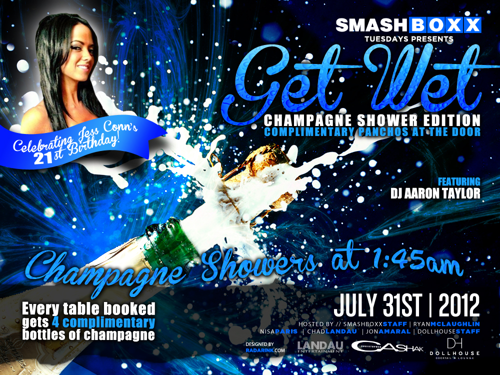 Industry Tuesdays: Get Wet! Champagne Shower Edition feat. DJ Aaaron Taylor