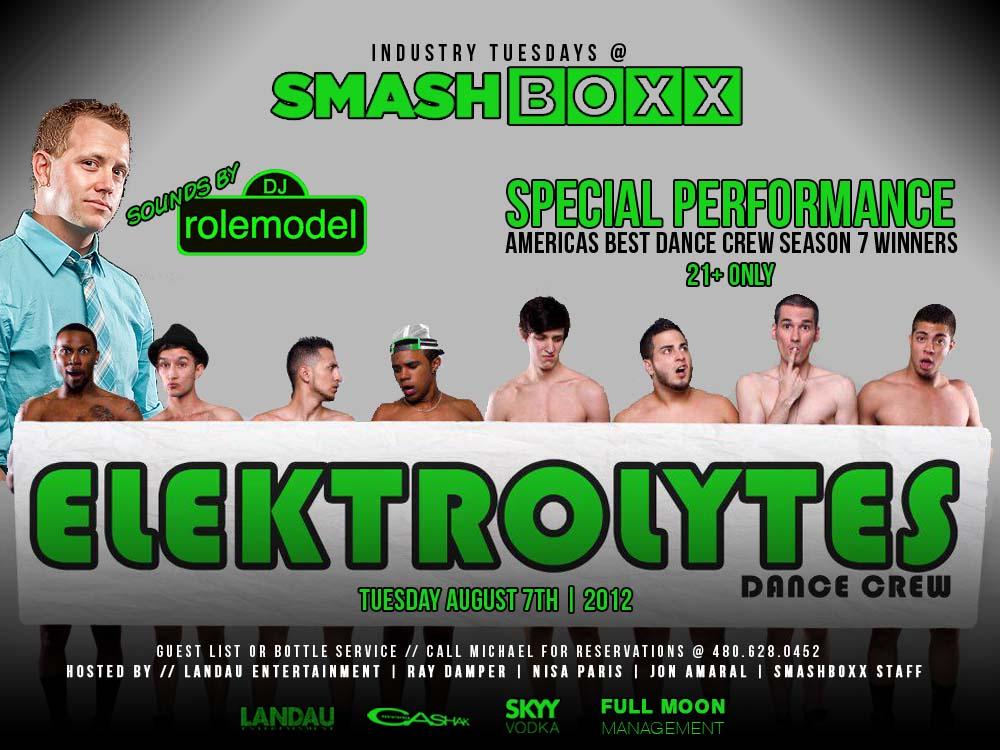 Industry Tuesdays feat. The Elektrolytes & DJ Rolemodel