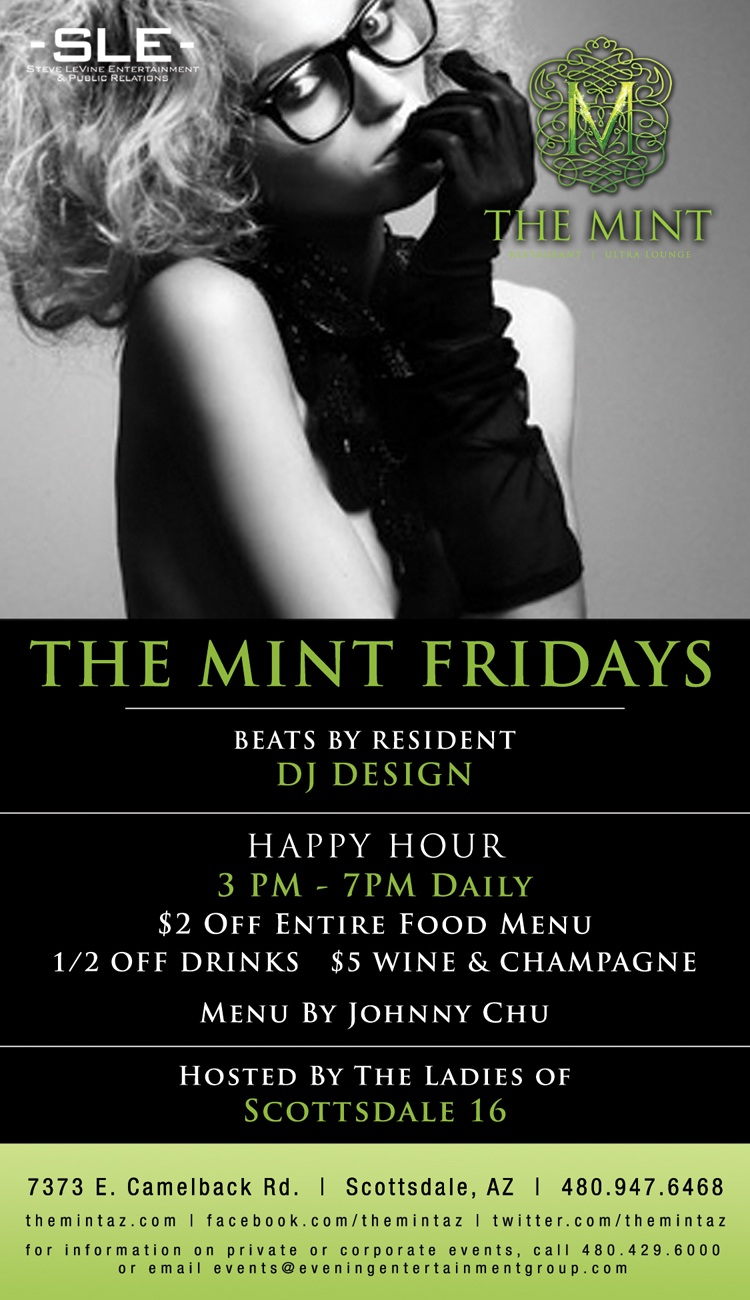 Mint Fridays w/ DJ Design