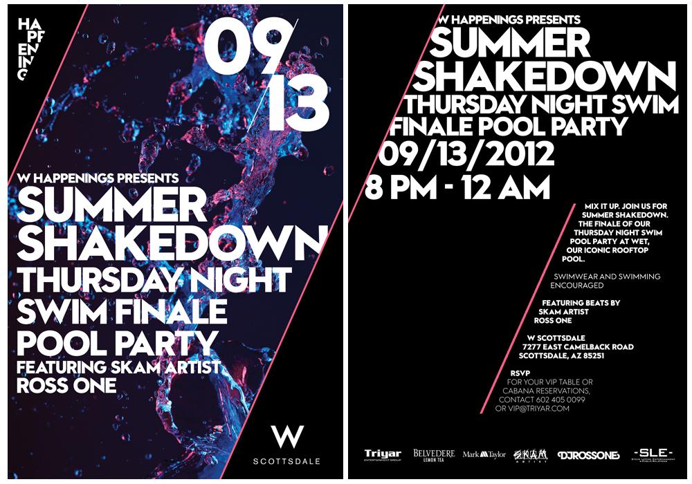 "Mark-Taylor ""Say Goodbye to Summer"" Thursday Night Swim Finale ft. Kelley James/ Finale of Night Swim Summer Shakedown ft. DJ Ross One @ W Scottsdale"