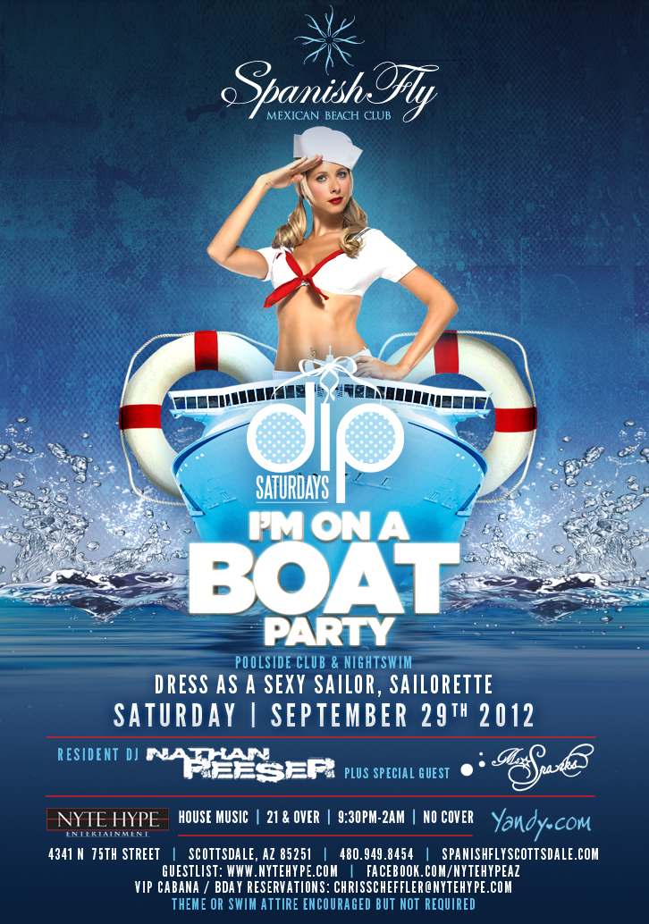 dip saturdays im on a boat sailor themed party