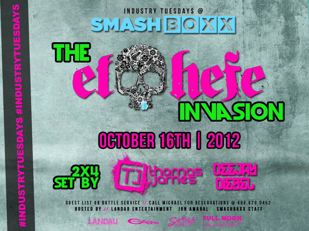 Industry Tuesdays: El Hefe Invasion feat. DJs Thomas James & Diesel