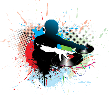 dj man playing tunes