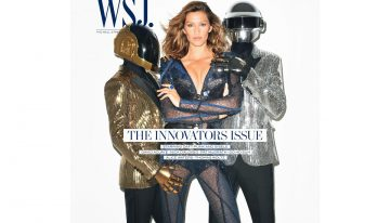 Daft Punk with Gisele Bündchen on the Cover of WSJ