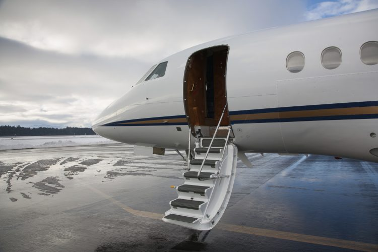 Business Jet stairs down
