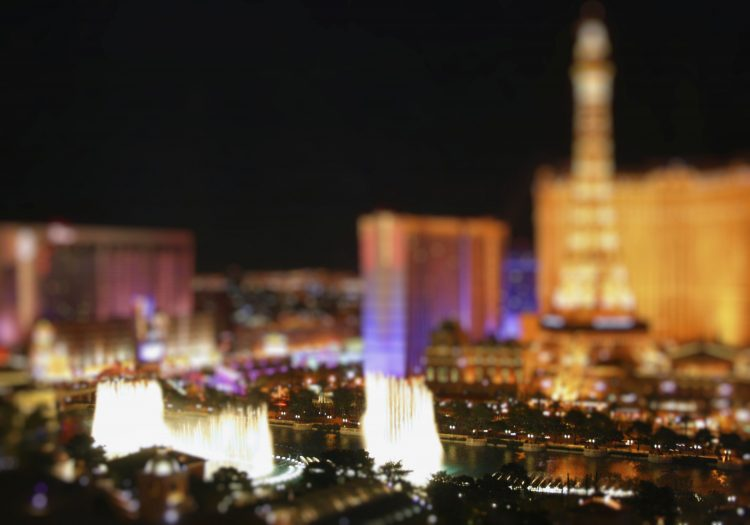 Las Vegas Strip - toy effect