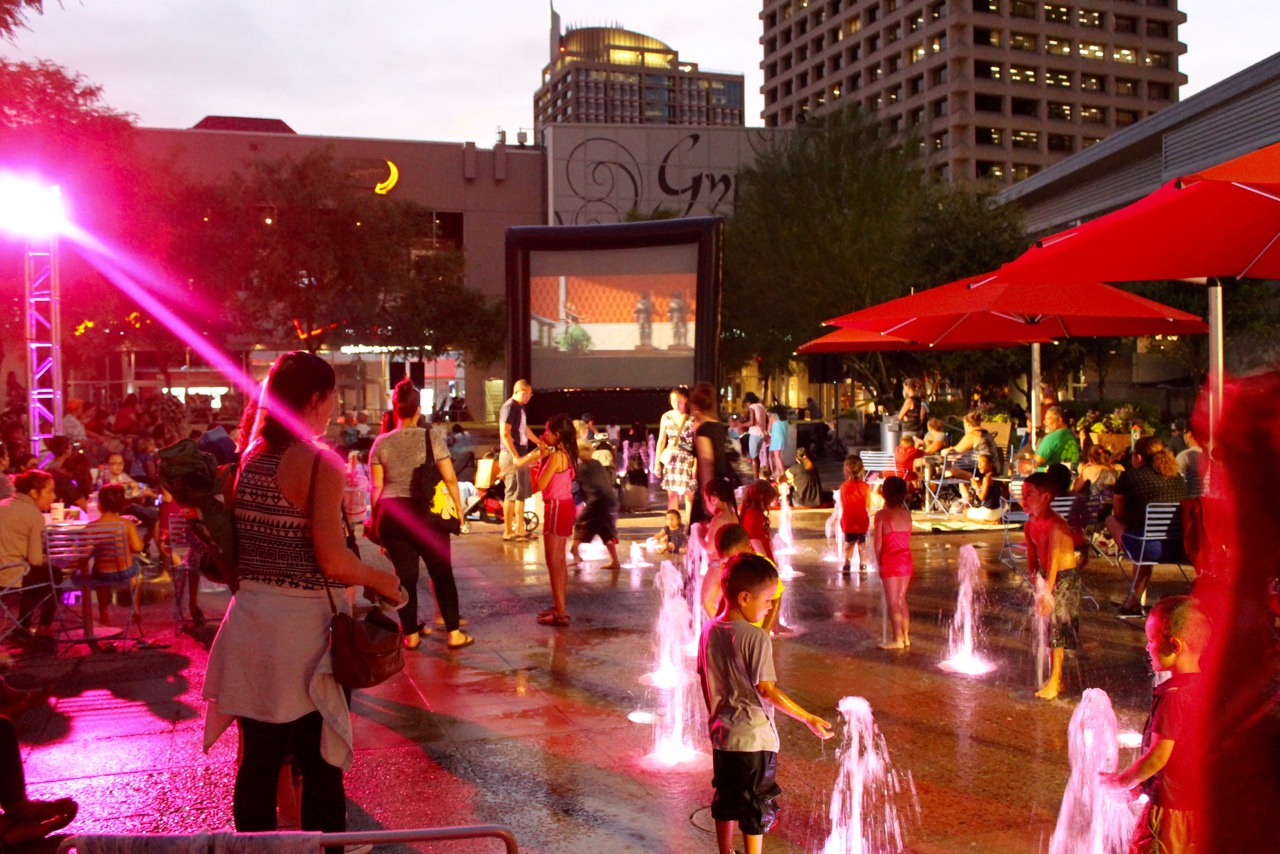 City Lights Movie Nights Return To Cityscape Nightlife