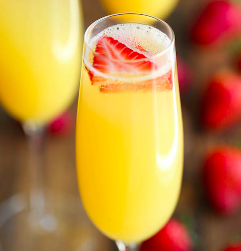 strawberry-pineapple-mimosa