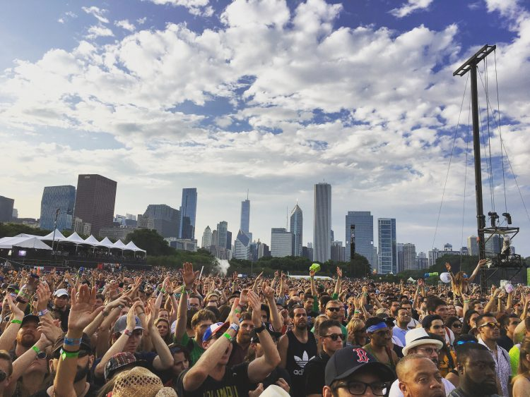 Chicago Skyline Lollapalooza