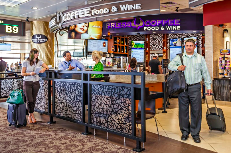 Best Sky Harbor Airport Dining Press Coffee Food & Wine