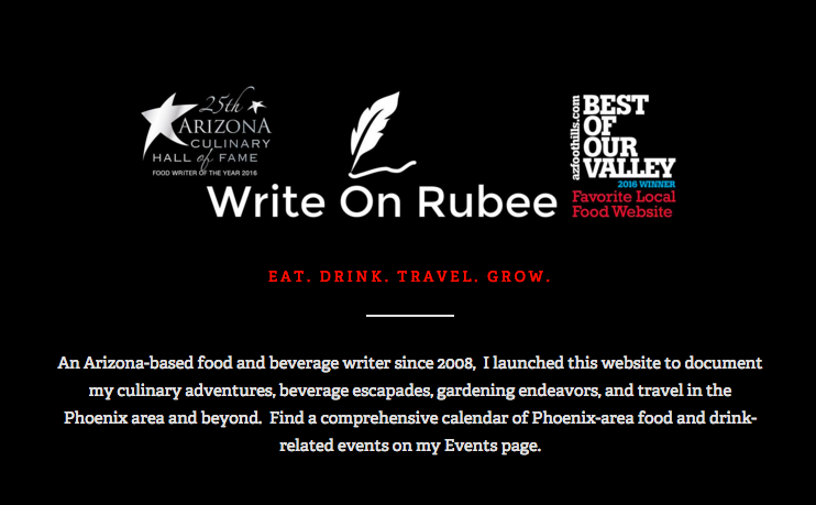 Favorite Local Food Blog or Website Write on Rubee
