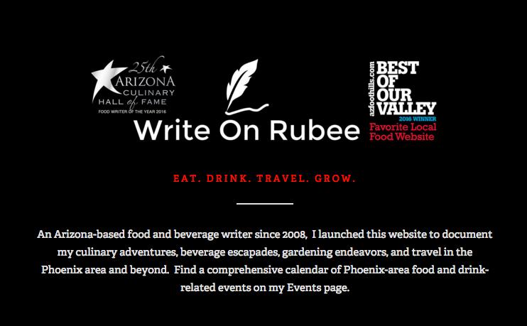 Favorite Local Food Blog or Website Write on Rubee