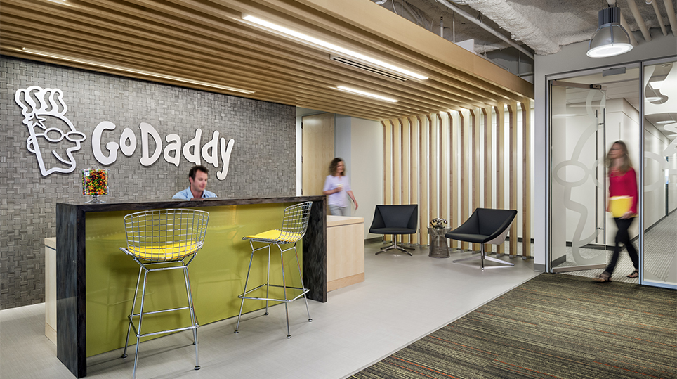 Go Daddy Office, Location: Cambridge MA, Architect: Symmes Maini & McKee Associates