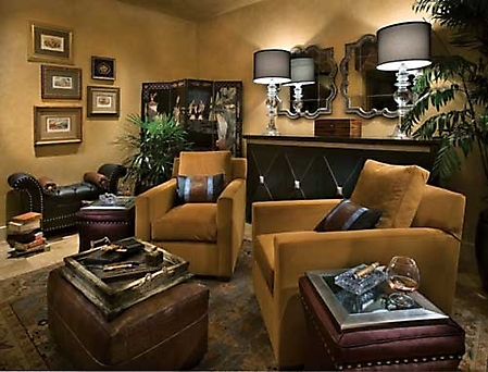 Gallery Designer Showhouse Picture Cigar Room
