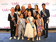 Bob and Renee Parsons with Wish Kids