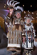 Chuna McIntyre and Agnes McIntyre of the Nunamta Yup'ik Eskimo Singers and Dancers