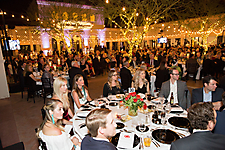 Dinner under the stars in the Freeport McMoRan Plaza